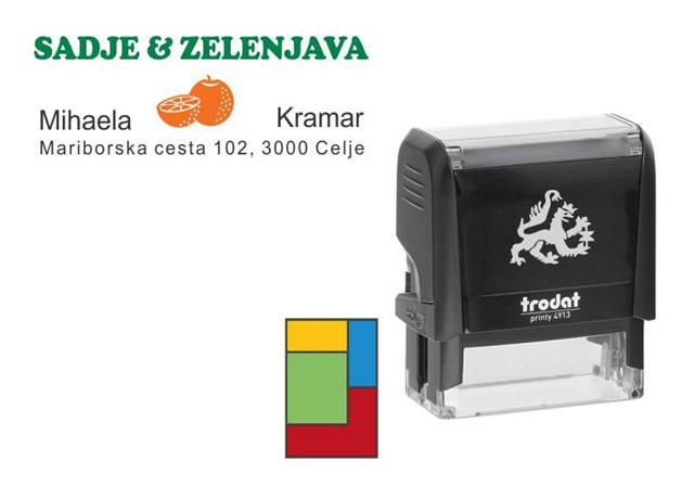 Večbarvna avtomatska štampiljka Trodat 4913